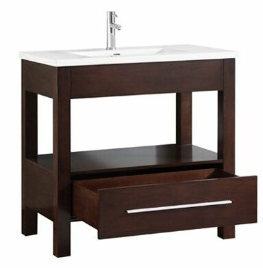 Cowart Vitreous China Top 37 Single Bathroom Vanity Set by Orren Ellis