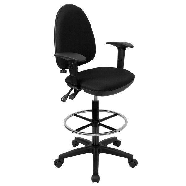 Wolfgram Mid-Back Drafting Chair (Set of 2) by Symple Stuff