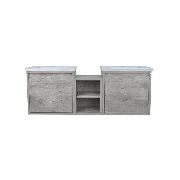 Reitz Modo 62 Wall-Mounted Double Bathroom Vanity Set