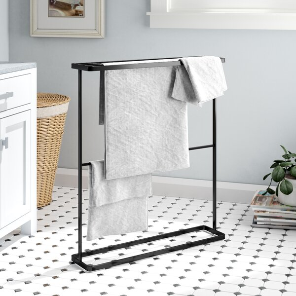 Espinal Free Standing Towel Stand by Rebrilliant