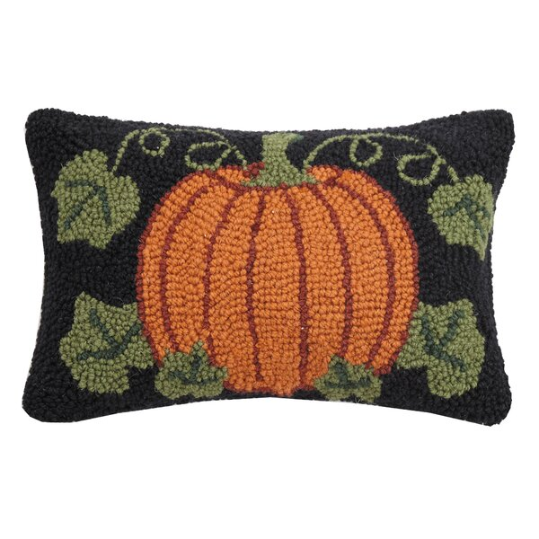 Collins Pumpkin Hook Lumbar Pillow by The Holiday Aisle