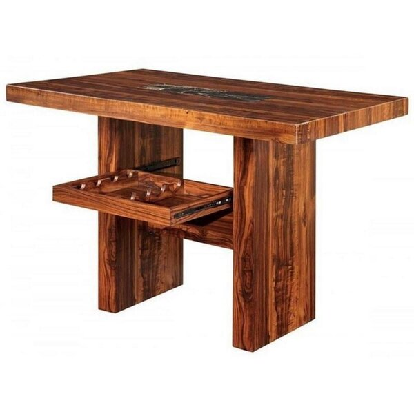Sipes Counter Height Walnut Solid Wood Dining Table by Union Rustic Union Rustic