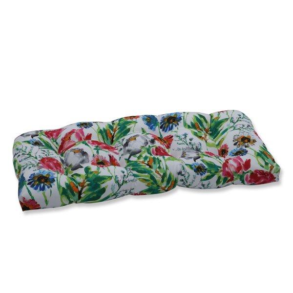 Flower Mania Petunia Wicker Indoor/Outdoor Love Seat Cushion