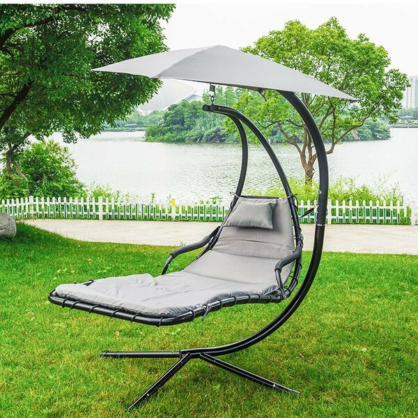 Eustice Hanging Chaise Lounger with Stand by Ebern Designs