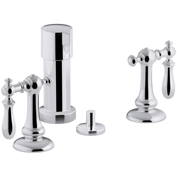 Artifacts Widespread Bidet Faucet with Swing Lever Handles by Kohler