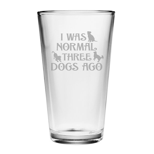Three Dogs Ago Pint Glass (Set of 4) by Susquehanna Glass