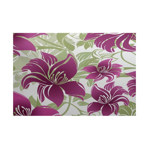Costigan Purple Indoor/Outdoor Area Rug by Bay Isle Home