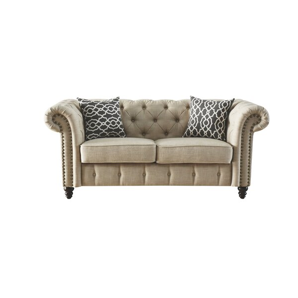 Excellent Brands Irenee Loveseat with Pillow by Lark Manor by Lark Manor