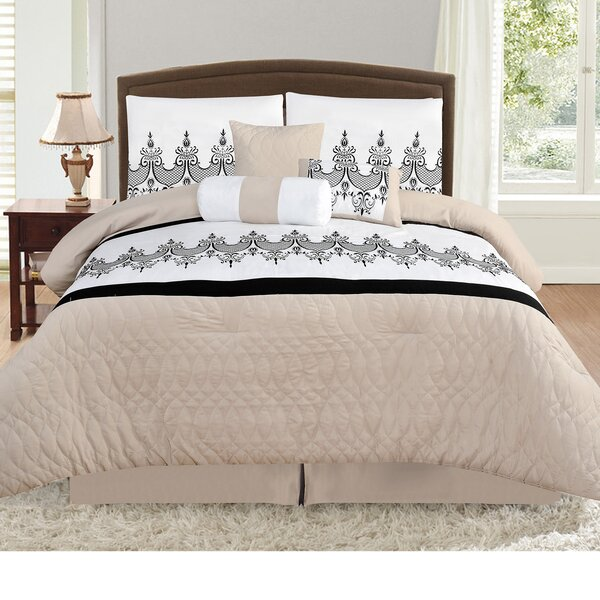 Prestwood Nature/Floral 7 Piece Comforter Set by Andover Mills