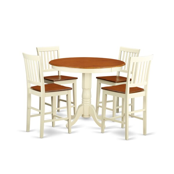 Amazing Jackson 5 Piece Counter Height Pub Table Set By Wooden Importers 2019 Online