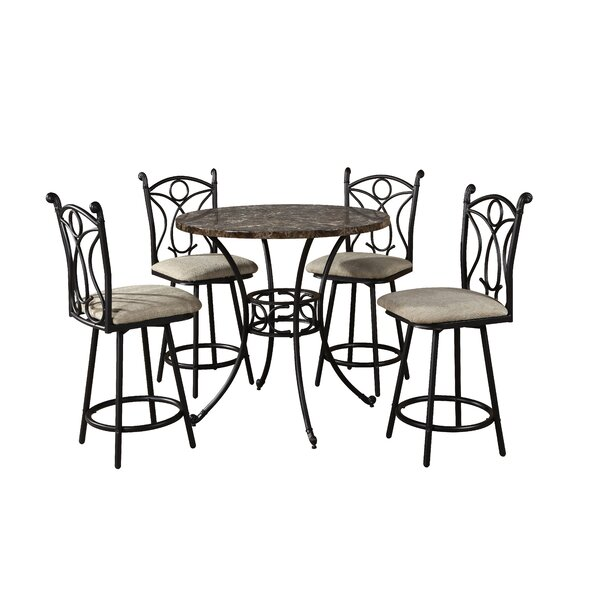 Armetta 5 Piece Pub Table Set by Hazelwood Home