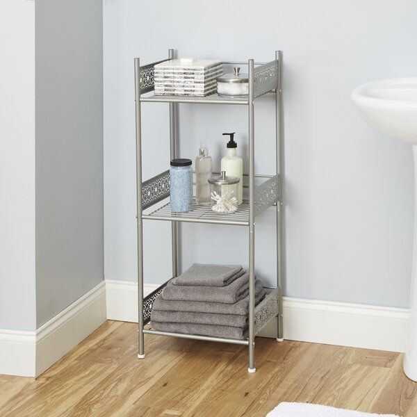Gillespie 14.5 W x 36 H Bathroom Shelf by Bungalow Rose