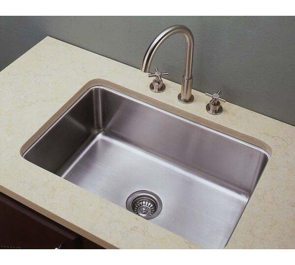 27 L x 18 W Single Undermount Kitchen Sink by Empire Industries