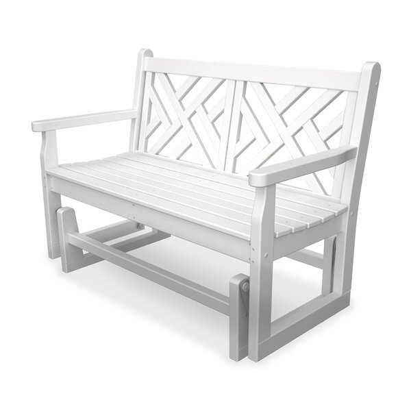 Chippendale Glider Bench by POLYWOOD®