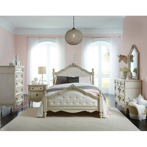 Avila Upholstered Four Poster Bed by Lark Manor