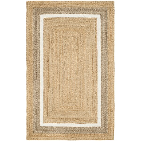 Fogarty Fiber Hand Woven Natural Area Rug  by Rosecliff Heights