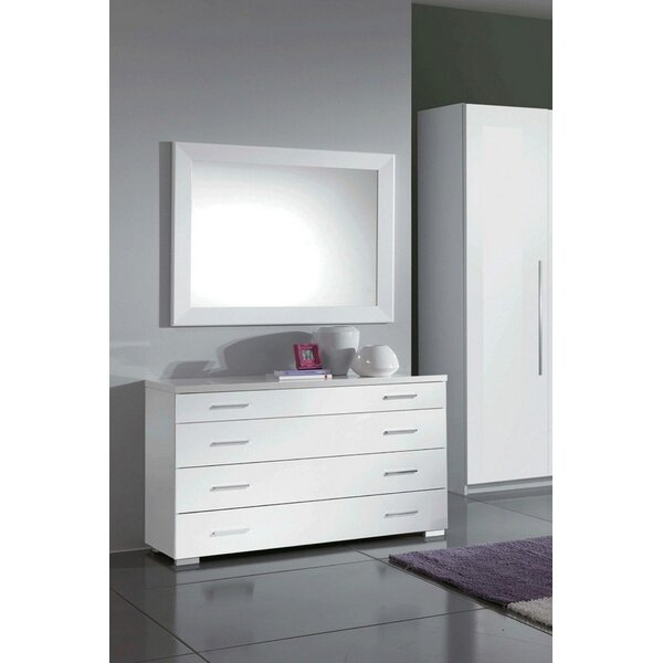 Clem 4 Drawer Bachelors Chest with Mirror by Orren Ellis