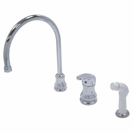 Daytona Single Handle Kitchen Faucet with Side Spray by Elements of Design