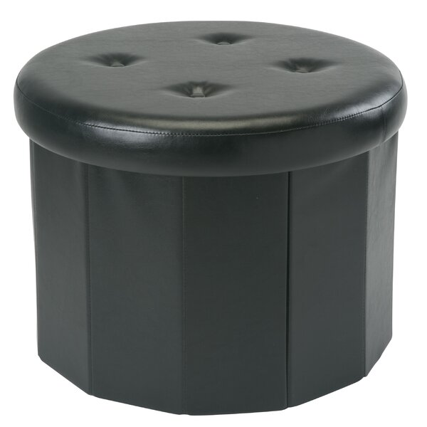 Hirsh Collapsible Storage Ottoman by Winston Porter