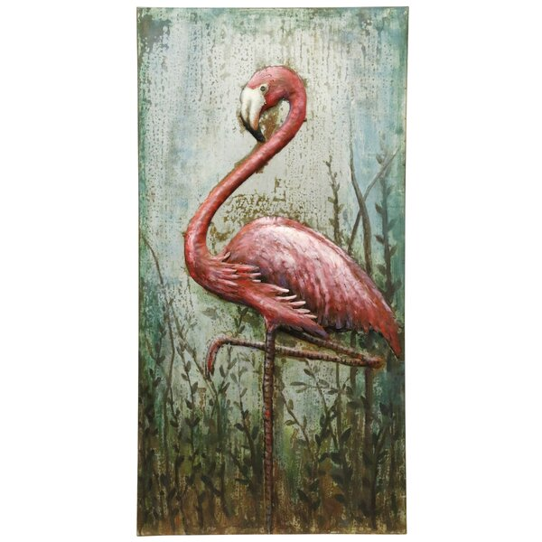 Grace the Flamingo Painting by Bay Isle Home