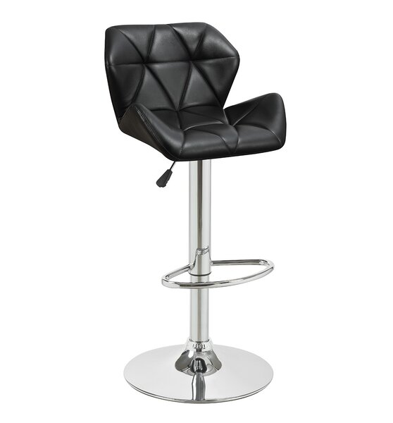 Bairnsdale Adjustable Height Swivel Bar Stool (Set of 2) by Wade Logan