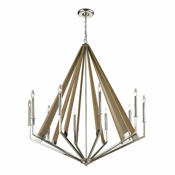 Eligah 10-Light Candle Style Geometric Chandelier By House Of Hampton