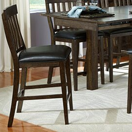 Lolington Slatback Upholstered Dining Chair (Set of 2) by Loon Peak