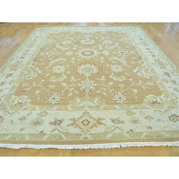 One-of-a-Kind Boatner Soumak Handwoven Brown Wool Area Rug by Isabelline