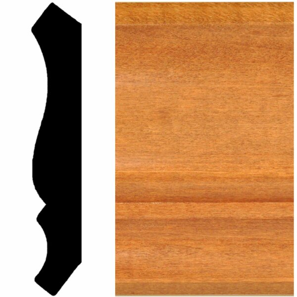 3/4 in. x 4-1/2 in. x 8 ft. Hardwood Stained Cherry Crown Moulding by Manor House