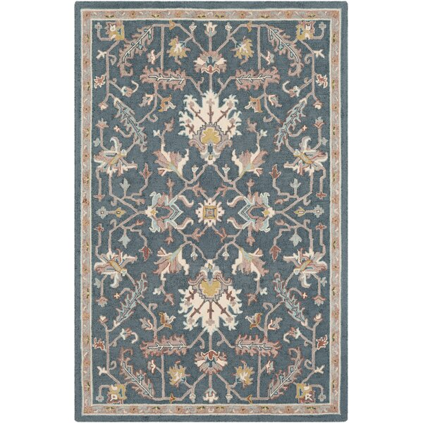 Greater Taree Hand Hooked Wool Teal/Taupe Area Rug by Alcott Hill