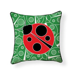 Erables Ladybug Outdoor Throw Pillow