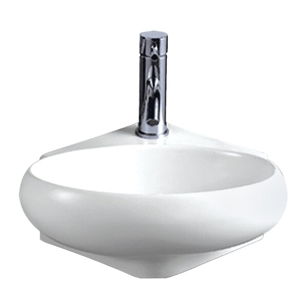 Isabella Vitreous China 15 Wall Mount Bathroom Sink by Whitehaus Collection