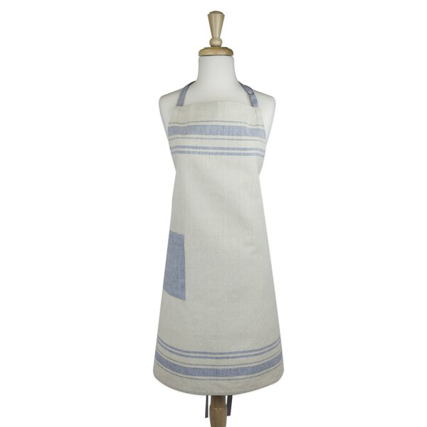Shelton Stripe Kitchen Apron by August Grove