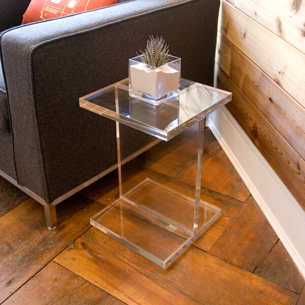 Acrylic I-Beam End Table by Gus* Modern