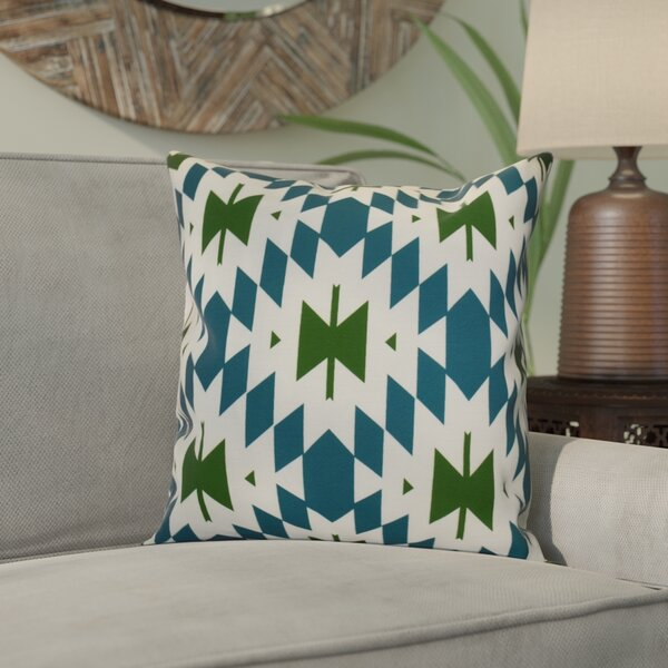 Soluri Geometric Outdoor Throw Pillow by Bungalow Rose