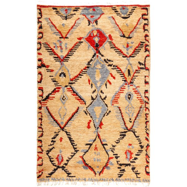 One-of-a-Kind Heiman Hand Knotted Wool Tan/Brown Area Rug by Bloomsbury Market