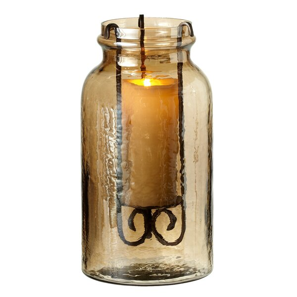 Luster Jar Pillar Candle Hurricane by Darby Home Co