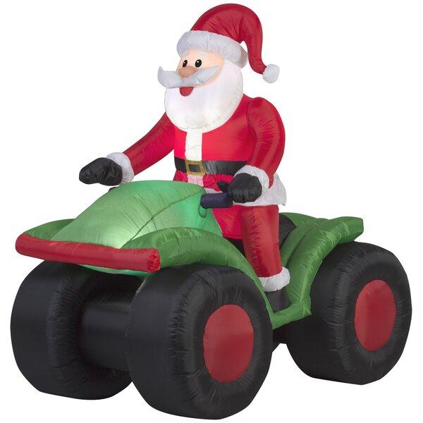 Santa on ATV Christmas Inflatable by The Holiday Aisle
