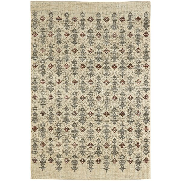 Delora Machine Woven Beige Area Rug by Bloomsbury Market