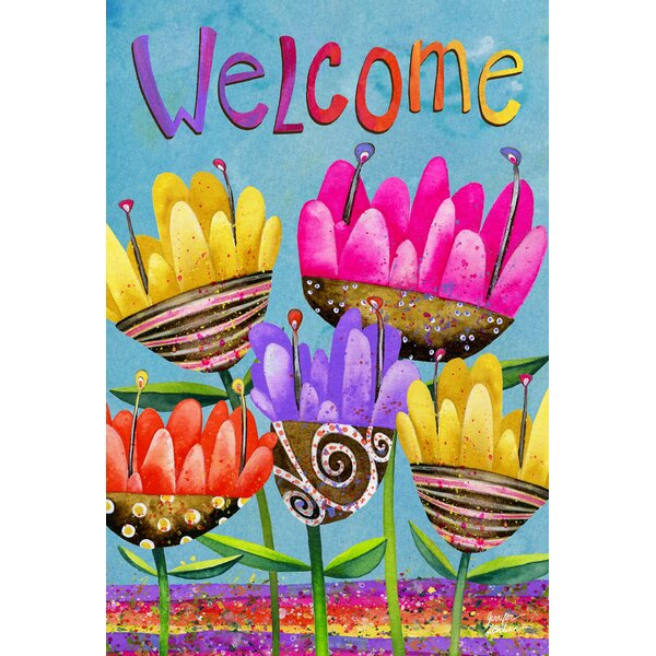 Painted Petals 2-Sided Garden flag by Toland Home Garden