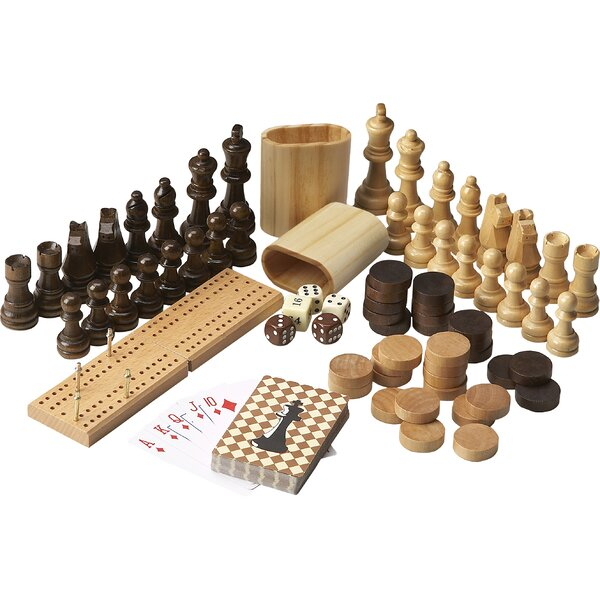 Masterpiece Anatoly Wood Multi Game Set by Wildon Home ®