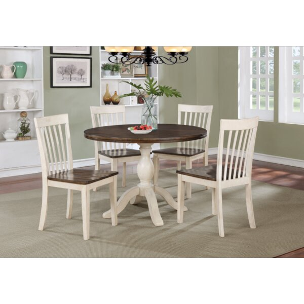Culbertson 5 Piece Solid Wood Dining Set by Ophelia & Co.