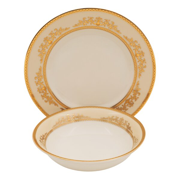 Caramel Ivory China 24 Piece Completer Set by Shinepukur Ceramics USA, Inc.