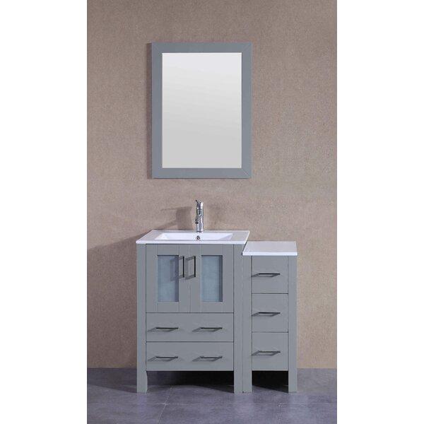 37 Single Bathroom Vanity Set with Mirror by Bosconi