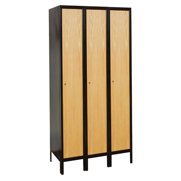 Hybrid 1 Tier 3 Wide School Locker by Hallowell| @ $1,489.99