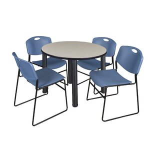 Leiser 36 5 Piece Round Breakroom Table Set BySymple Stuff