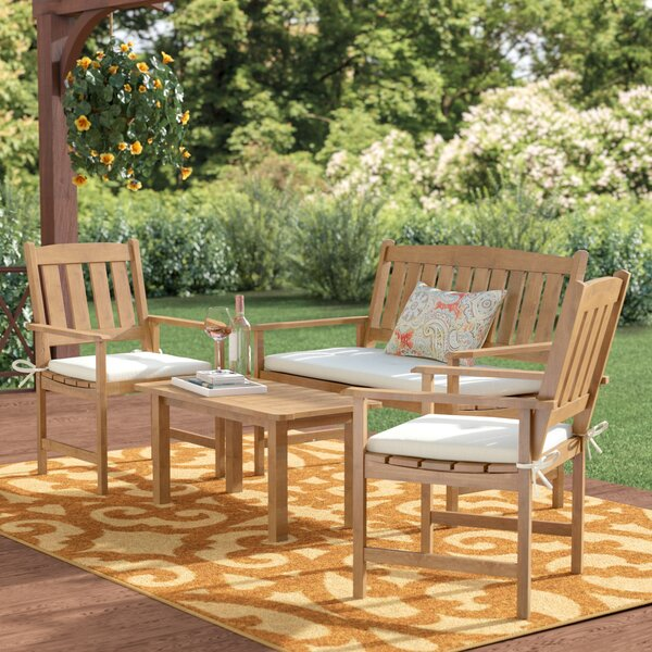 Kristine 4 Piece Sofa Seating Group With Cushions by Andover Mills