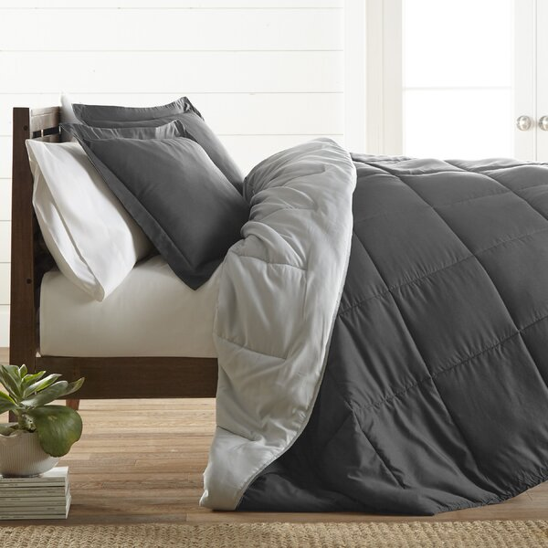 Alan Ultra Soft Down Alternative 3 Piece Reversible Comforter Set by Ebern Designs