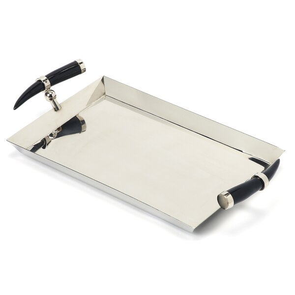 Rectangle Silver Serving Tray by Darby Home Co