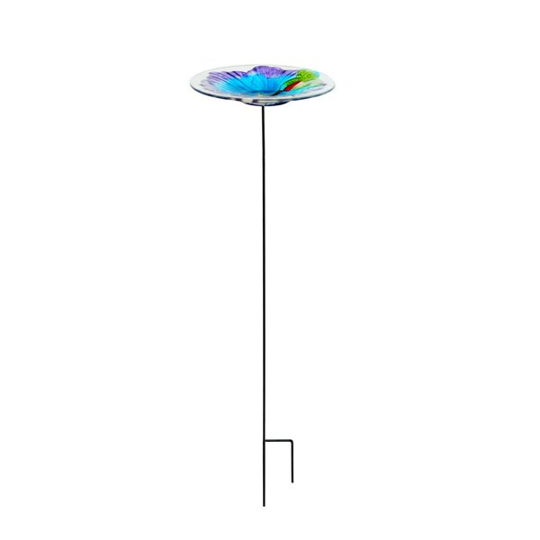 Hummingbird Garden Birdbath by Continental Art Center